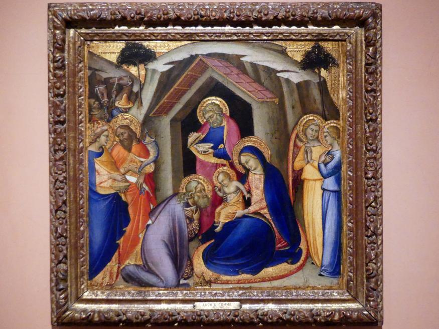 Luca di Tommè: Anbetung der Könige, um 1360 - 1365