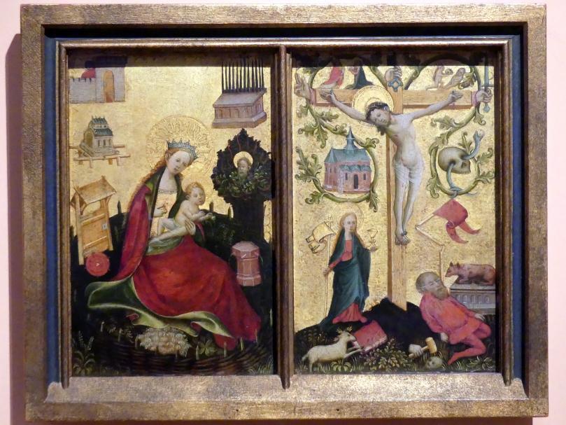Christus am Kreuz als Salvator Mundi (rechter Seitenflügel), Um 1410