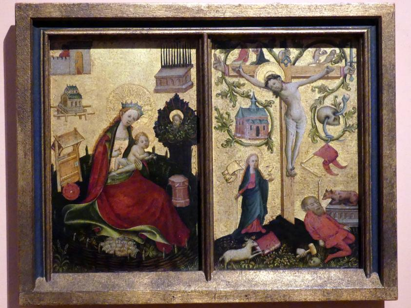 Maria mit Kind im Hortus conclusus, um 1410