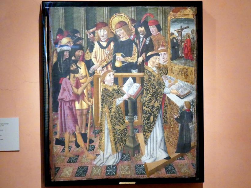Jaume Huguet (Umkreis): Pilgermesse, um 1450 - 1500