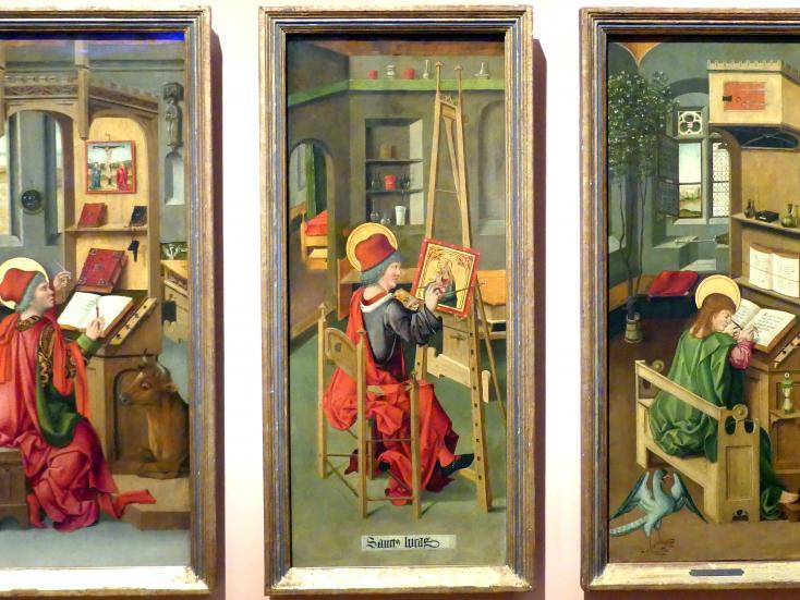 Gabriel Mälesskircher: Der Hl. Lukas malt die Jungfrau Maria, 1478