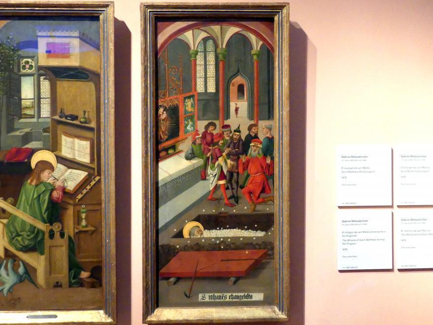 Gabriel Mälesskircher: Hostienwunder am Grab des Hl. Johannes, 1478
