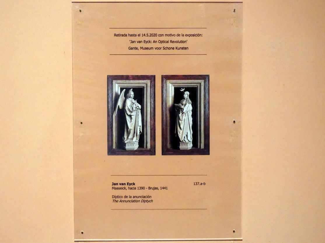Jan van Eyck: Diptychon der Verkündigung, Undatiert