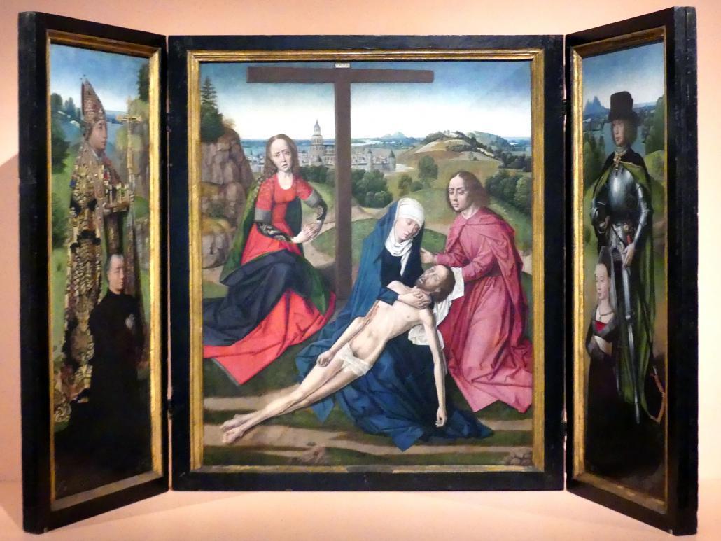 Meister der Lucialegende: Pietá-Tryptychon, um 1475