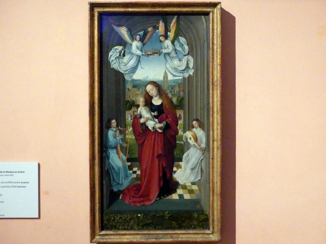 Meister der André-Madonna: Maria mit Kind und Engeln, um 1500