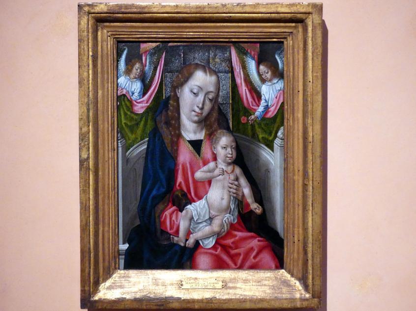 Meister der Brügger Ursulalegende: Maria mit Kind und zwei Engeln, um 1480