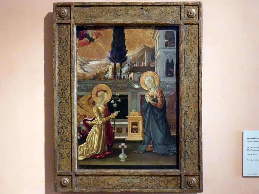 Benedetto Bonfigli: Verkündigung an Maria, um 1455