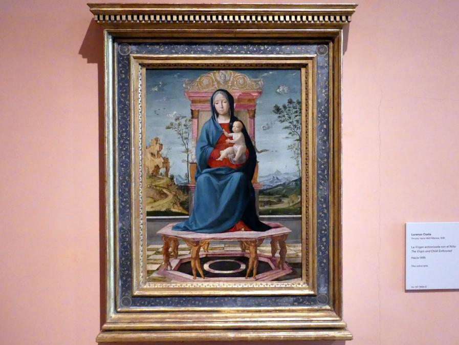 Lorenzo Costa: Thronende Maria mit Kind, um 1495