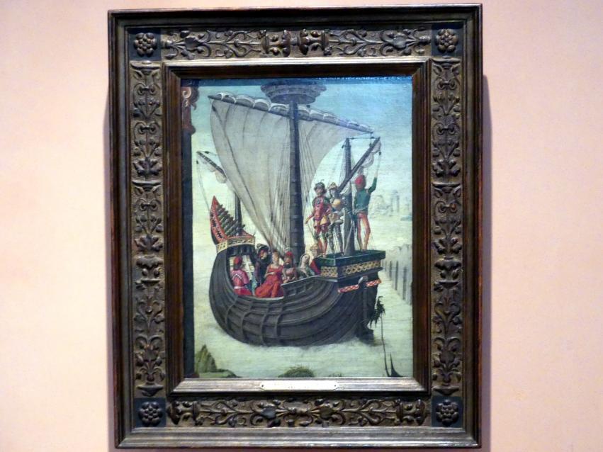 Ercole de' Roberti: Die Argonauten verlassen Kolchis, um 1480