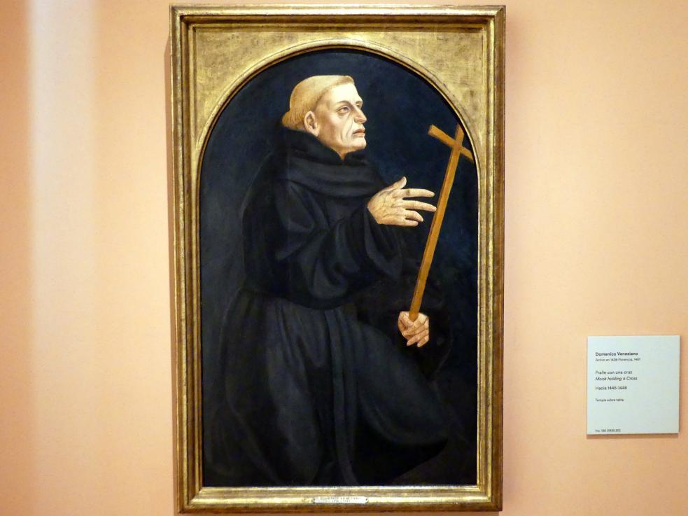 Domenico Veneziano: Mönch, der ein Kreuz hält, um 1445 - 1448