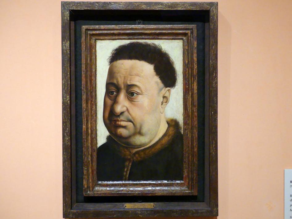 Robert Campin: Porträt eines korpulenten Mannes. Robert de Masmines (?), um 1425