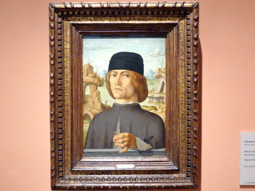 Francesco del Cossa: Porträt eines Mannes mit einem Ring, um 1472 - 1477
