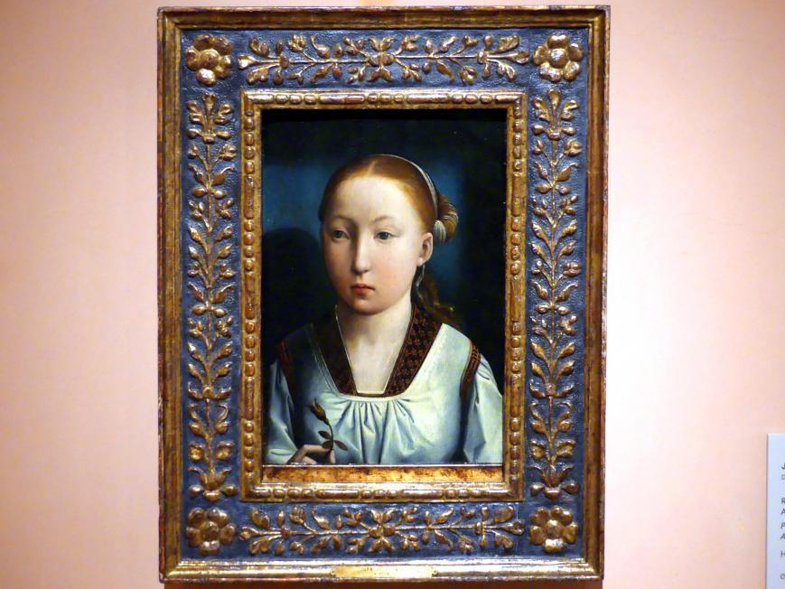 Juan de Flandes: Porträt einer Infantin. Katharina von Aragon (?), um 1496