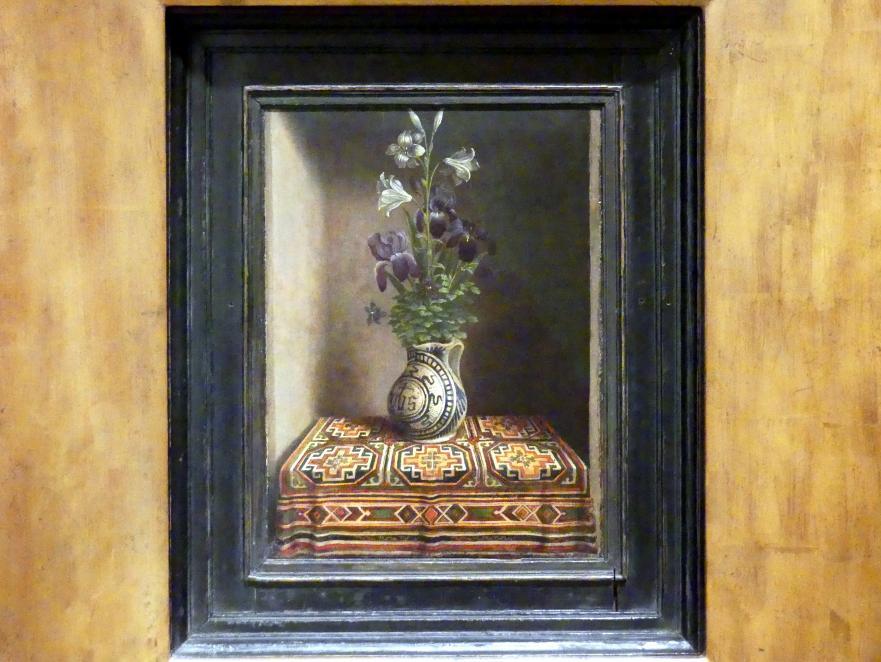 Hans Memling: Blumen in einem Krug, um 1485