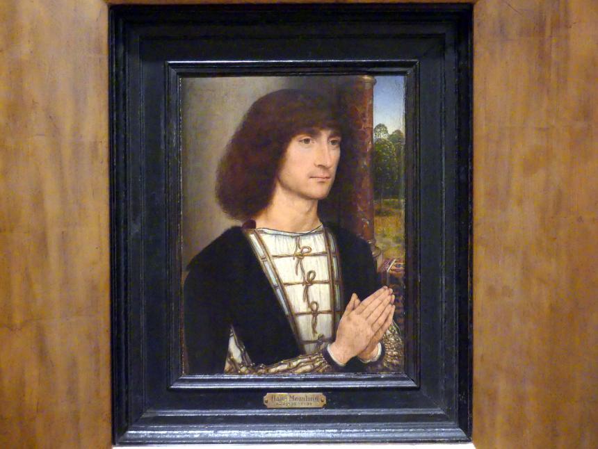 Hans Memling: Porträt eines betenden jungen Mannes, um 1485