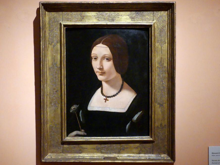 Giovanni Antonio Boltraffio: Porträt einer Dame als Heilige Lucia, um 1509