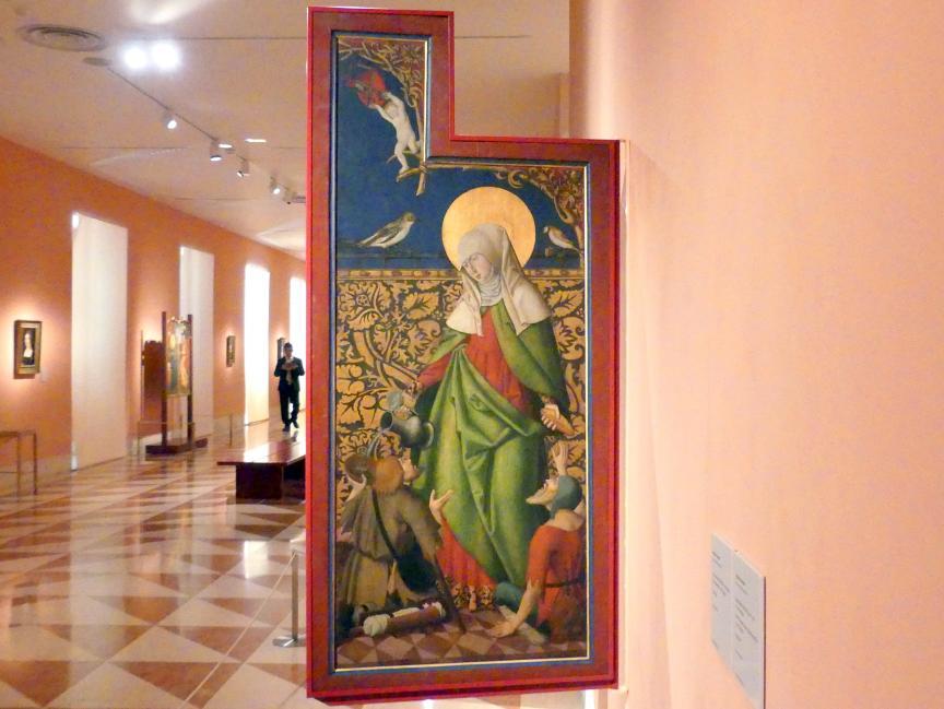 Die Heilige Elisabeth reicht zwei Bettlern Brot und Wein, um 1515