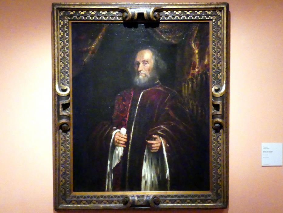 Tintoretto (Jacopo Robusti): Porträt eines Senators, Um 1570