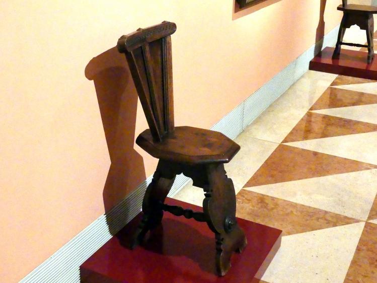 Sgabello (italienischer Hocker), 16. Jhd.