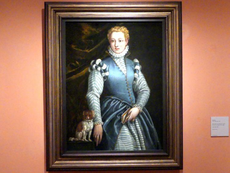 Paolo Veronese: Porträt einer Frau mit einem Hund, um 1560 - 1570