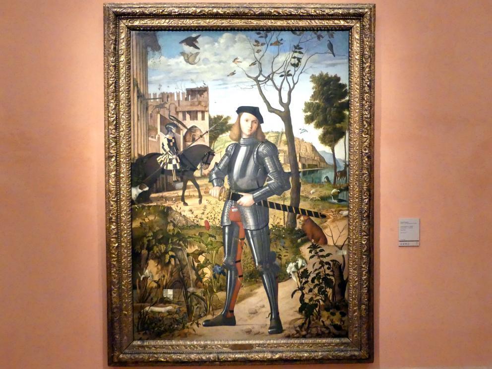 Vittore Carpaccio: Junger Ritter in einer Landschaft, um 1505, Bild 1/2