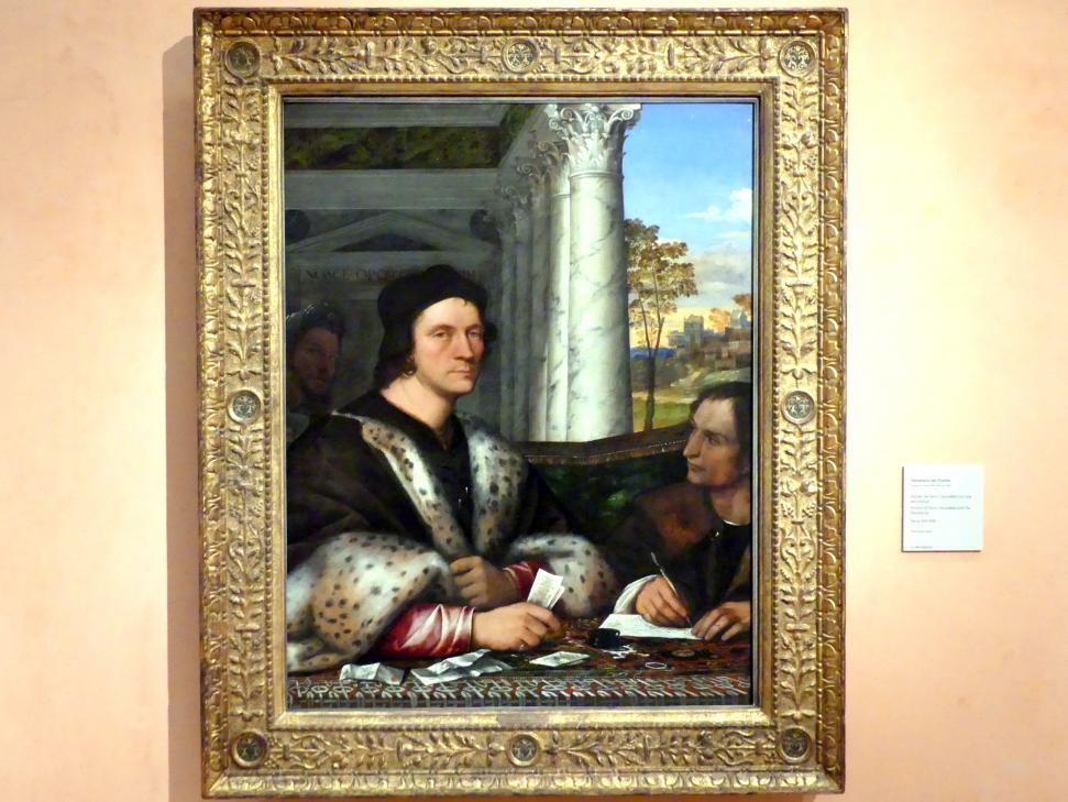 Sebastiano del Piombo: Porträt des Ferry Carondelet mit seinem Sekretär, um 1510 - 1512