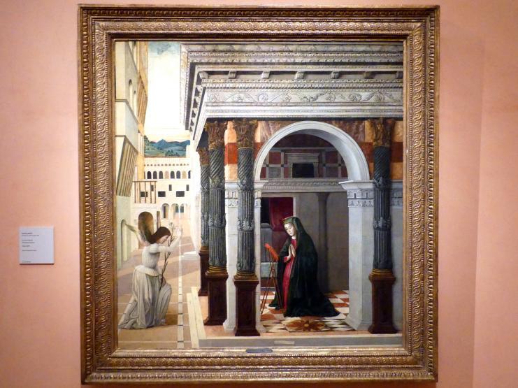Gentile Bellini: Verkündigung an Maria, Um 1475