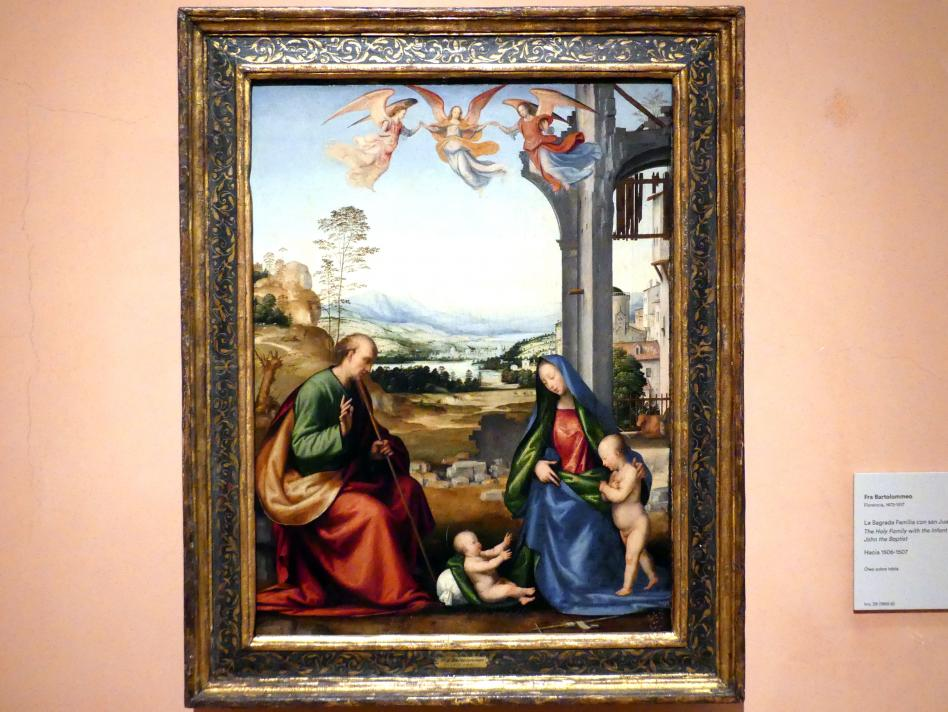Fra Bartolomeo (Baccio della Porta): Die Heilige Familie mit dem Johannesknaben, um 1506 - 1507