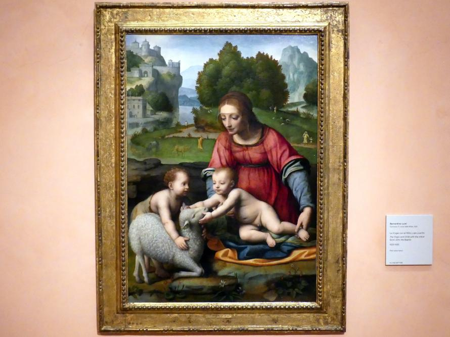 Bernardino Luini: Die Jungfrau mit Kind und dem Johannesknaben, um 1523 - 1525