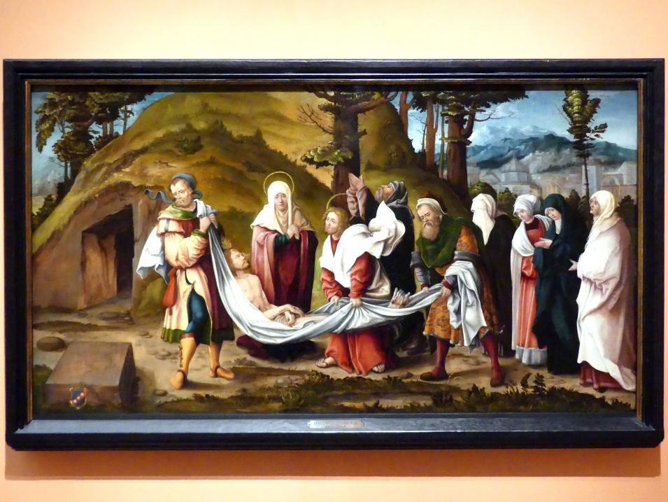 Hans Burgkmair der Ältere: Grablegung Christi, um 1520