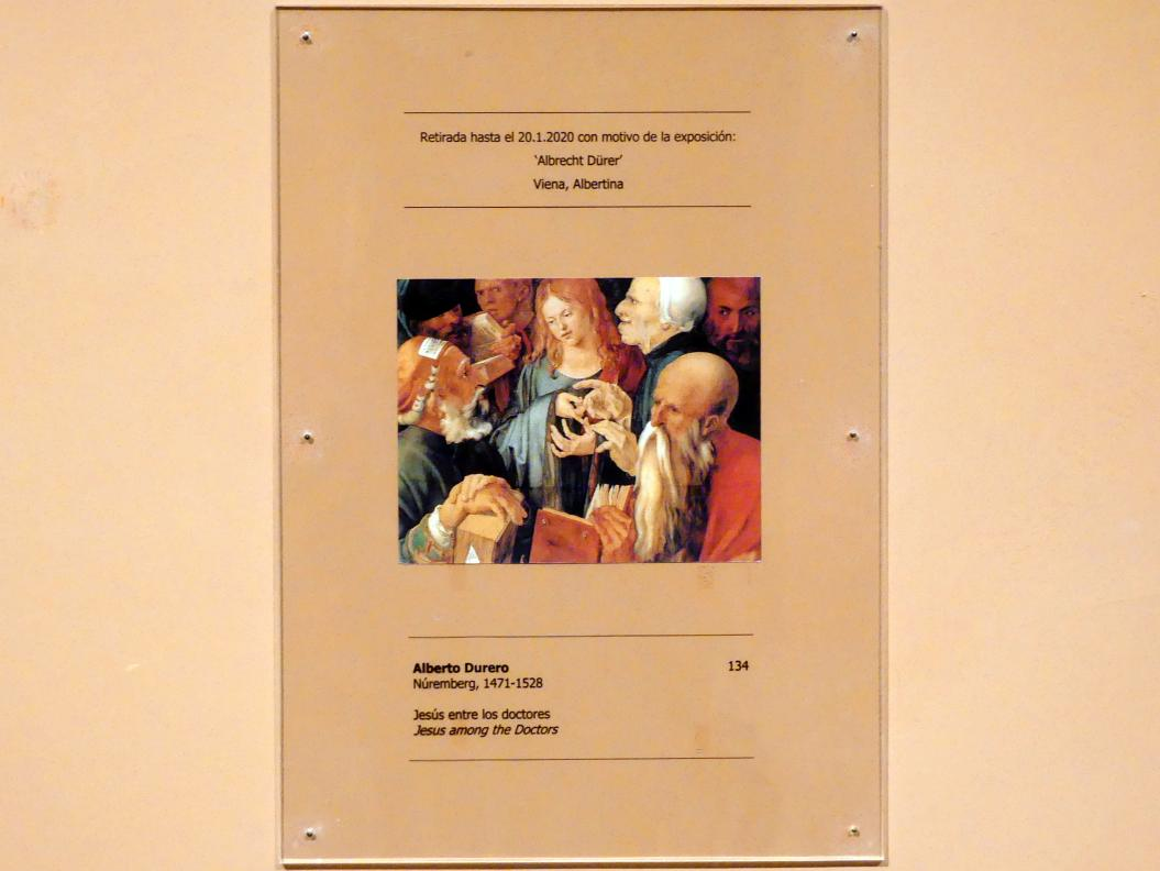 Albrecht Dürer: Der zwölfjährige Jesus unter den Schriftgelehrten, 1506