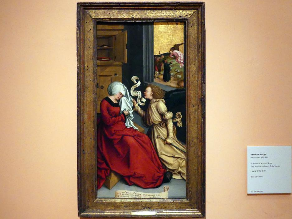 Bernhard Strigel: Verkündigung an die Heilige Anna, um 1505 - 1510