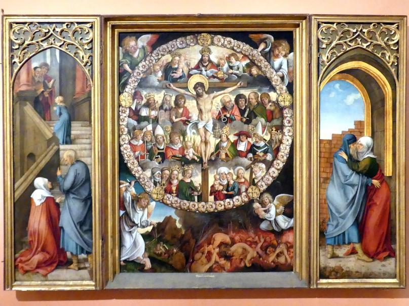 Hans Süß von Kulmbach: Rosenkranz-Tryptychon, um 1510 - 1513