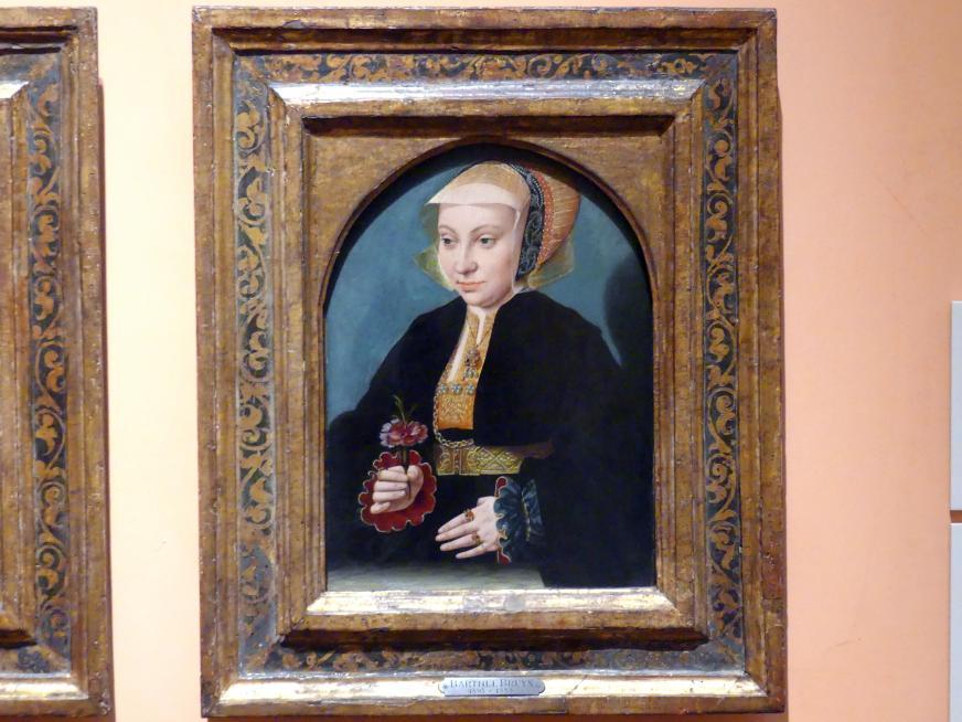 Bartholomäus Bruyn der Ältere: Porträt einer Frau, um 1538 - 1539