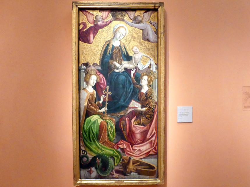Michael Pacher (Nachfolger): Maria mit Kind und den Heiligen Margareta und Katharina, um 1500