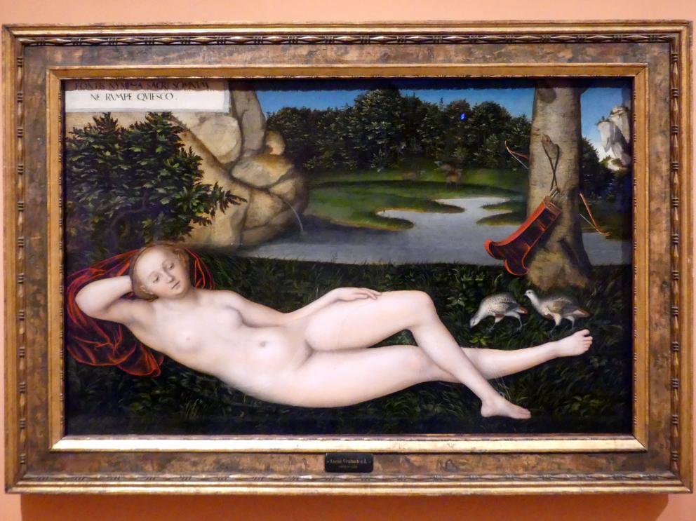Lucas Cranach der Ältere: Die Nymphe am Brunnen, um 1530 - 1534