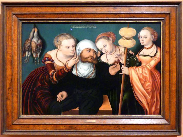 Hans Cranach: Herkules am Hofe der Omphale, 1537