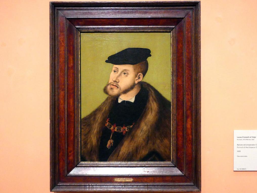 Lucas Cranach der Ältere: Porträt von Kaiser Karl V., 1533