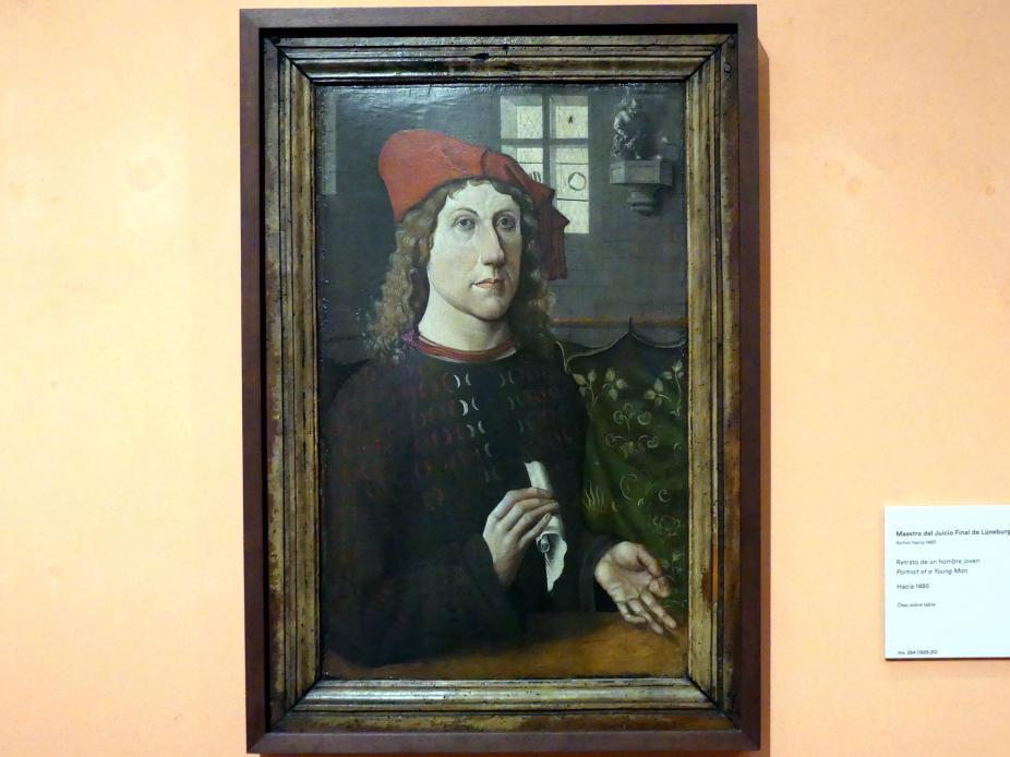 Meister des Jüngsten Gerichts von Lüneburg: Porträt eines jungen Mannes, um 1485