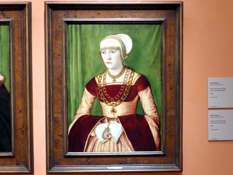 Barthel Beham: Porträt von Ursula Rudolph, 1528