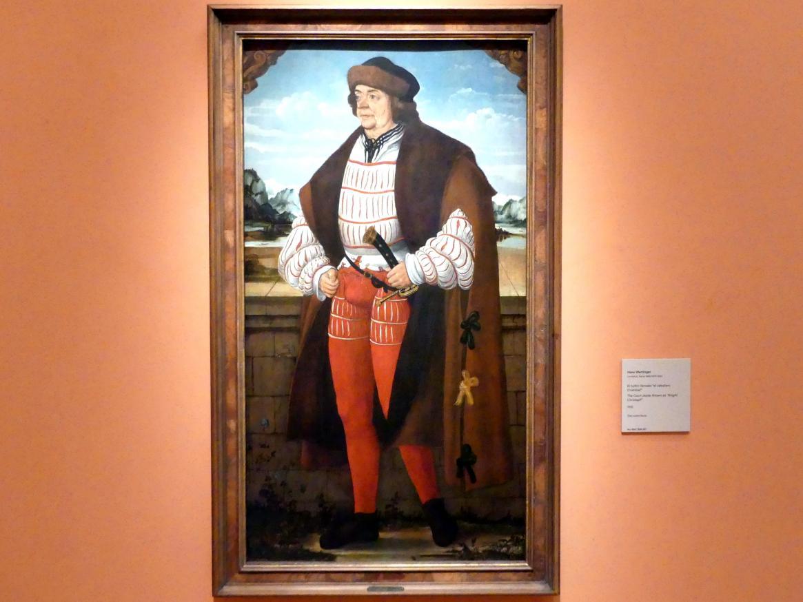 """Hans Wertinger: Hofnarr """"Ritter Christoph"""", 1515"""