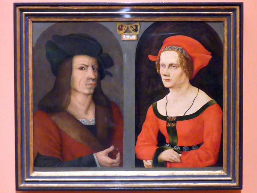 Jörg Breu der Ältere: Hochzeitsporträt von Kolman Helmschmied und seiner Frau Agnes Breu, Um 1500 - 1505