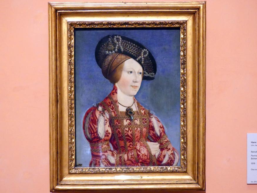 Hans Maler zu Schwaz: Porträt der Anna von Ungarn und Böhmen, 1519