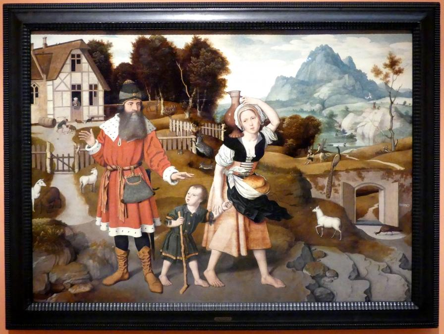 Jan Mostaert: Vertreibung der Hagar, um 1520 - 1525