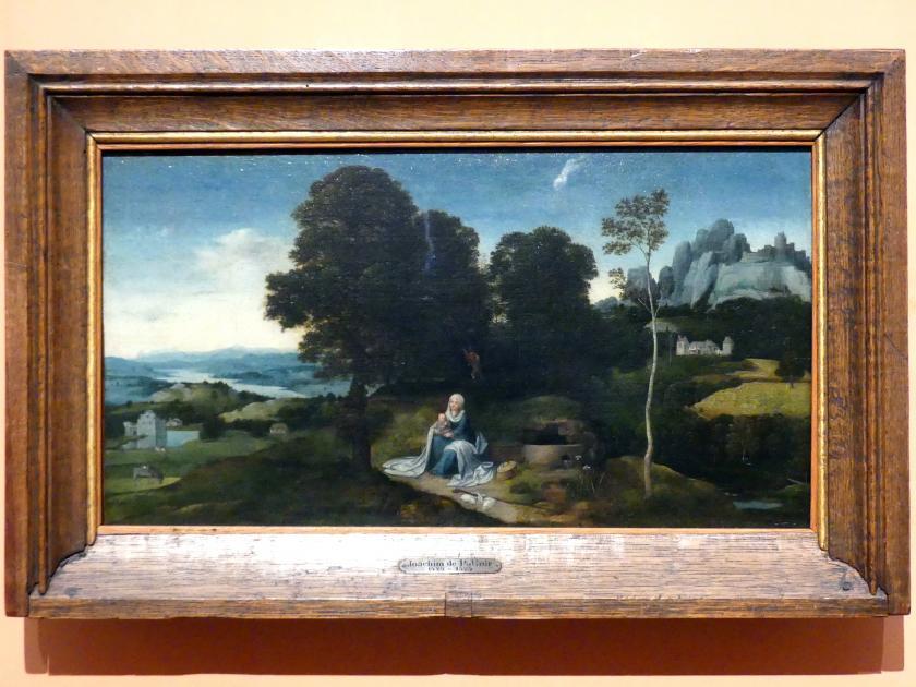 Joachim Patinir (Patenier): Ruhe auf der Flucht in einer Landschaft, um 1518 - 1524