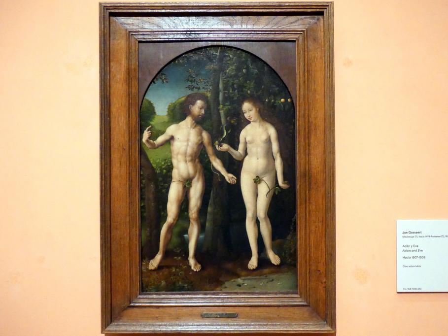 Jan Gossaert, genannt Mabuse: Adam und Eva, um 1507 - 1508
