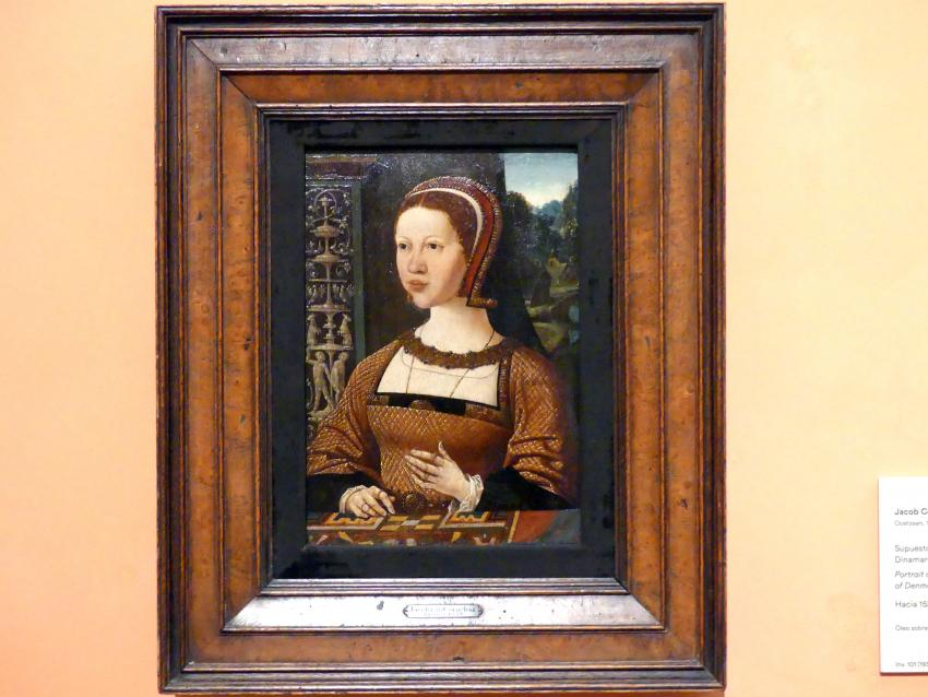 Jacob Cornelisz. van Oostsanen: Porträt einer Frau (Elisabeth von Dänemark ?), um 1524