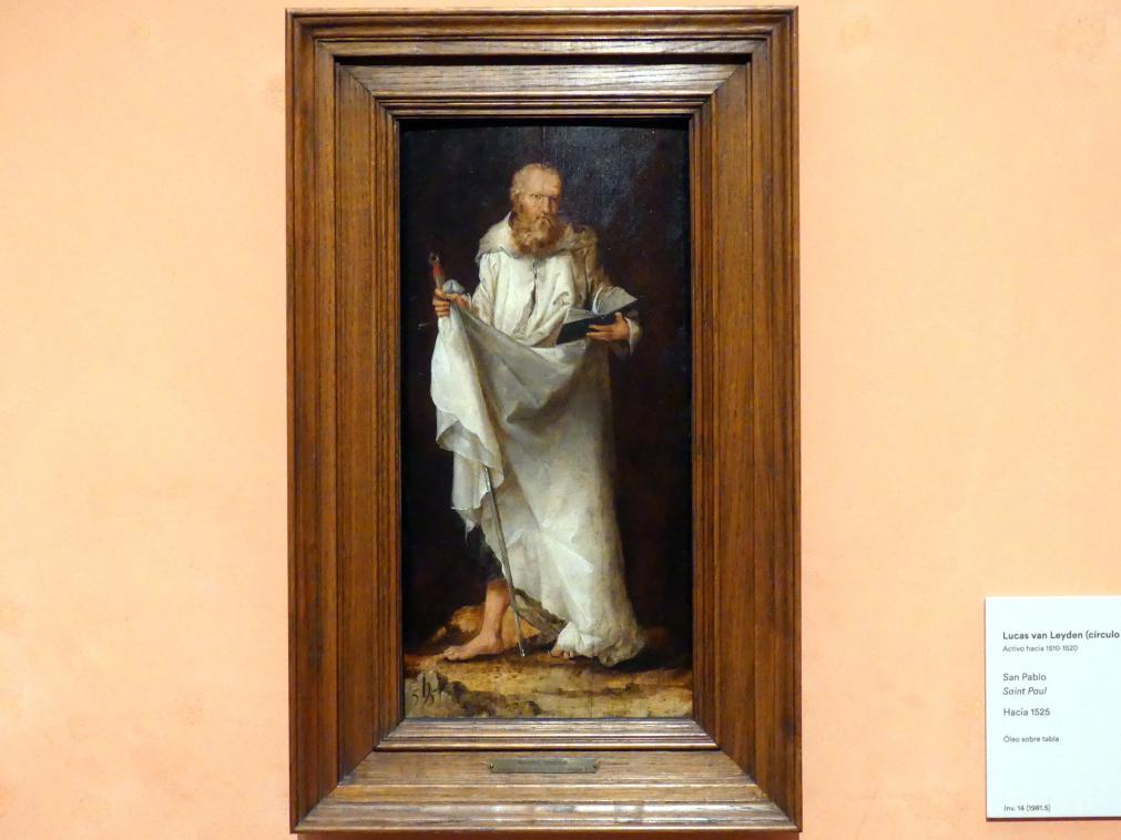 Lucas van Leyden (Umkreis): Heiliger Paulus, um 1525
