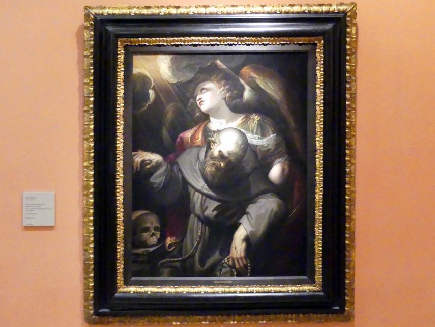 Ferraù Fenzoni: Der Heilige Franziskus mit Stigmata, vom Engel gehalten, Um 1610 - 1620