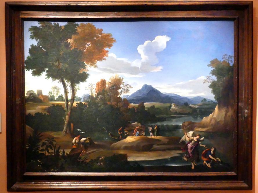Giovanni Francesco Grimaldi: Landschaft mit Tobias und dem Erzengel Raphael, um 1650
